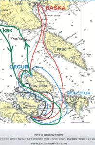hajoutak rab-szigeten lopar öbölböl